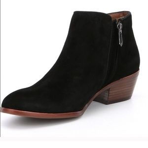 Sam Edelman Petty Suede Side Zip Ankle Booties